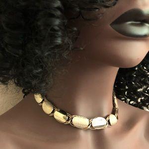 {estate} Vintage • Mid-Century Gold Choker Chain